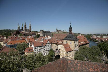 ancient centre of Bamberg - top view